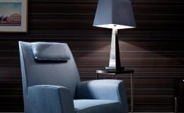 BENCH  Amaro Clubchair – Pii Obelisk Lamp & Lovely Table