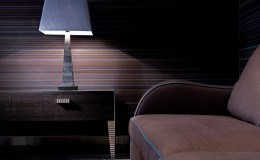 BENCH  Munich Sofa – Pii Scale Flatscreen Table & Obelisk Lamp