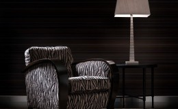 BENCH  Zarah Clubchair – PII Table & Scale Lamp
