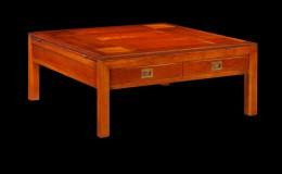 L02 Kersenhout salontafel vierkant